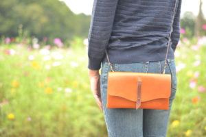 「お財布にもなる取外せる内ポケット」ショルダーバッグ【Step】9色展開