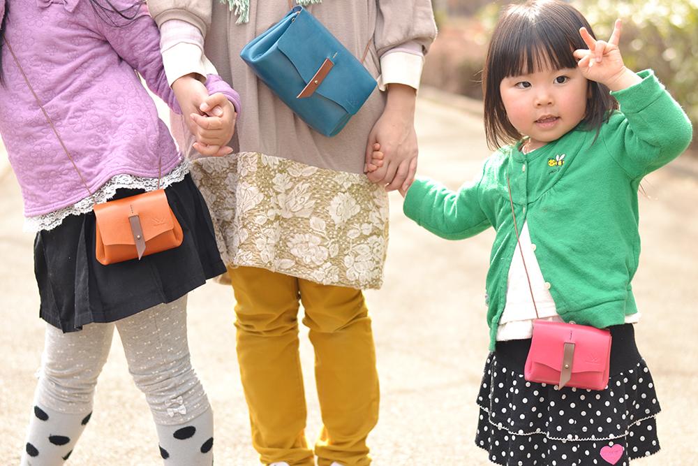 「親子でおそろいでお散歩」お財布ポシェット【Sanpoche】4色展開