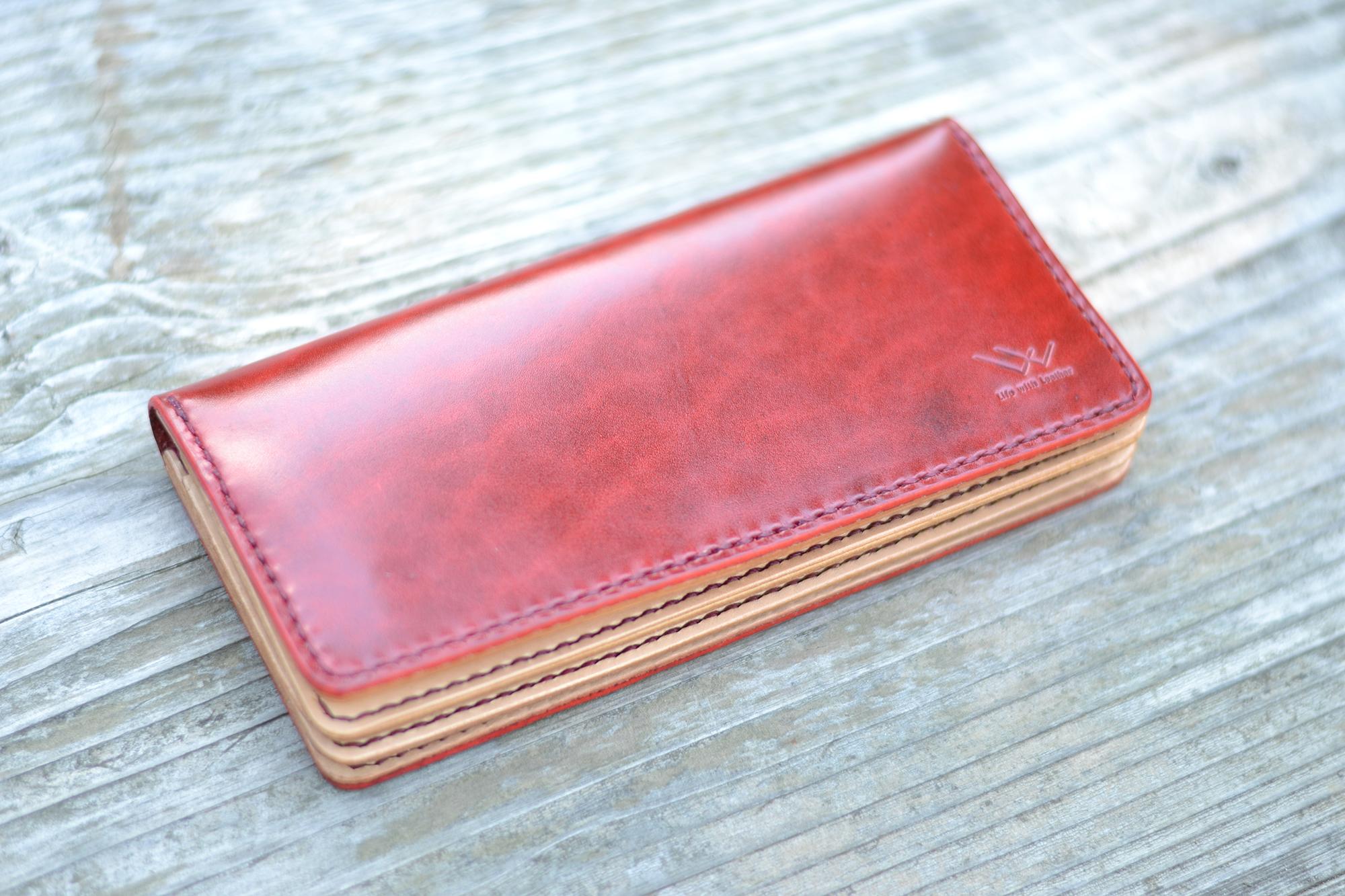 「良いものを長く使ってほしい」総手縫い長財布【Hope】2色展開